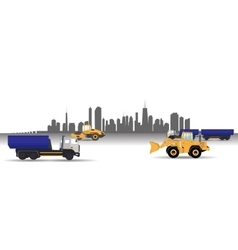 Transport Services in the City Car vector image