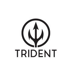 trident logo inspiration vector image