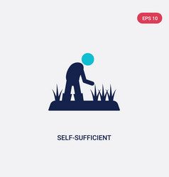 Two color self-sufficient icon from agriculture vector