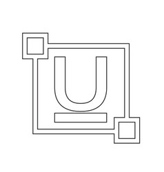 Ubderline text font edit letter icon vector