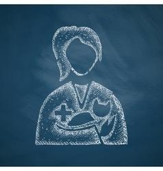 Veterinarian icon vector