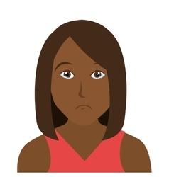 Woman character facial expression vector