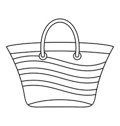 Women beach bag icon outline style vector image