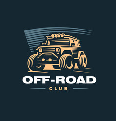 off road car logo vector image vector image