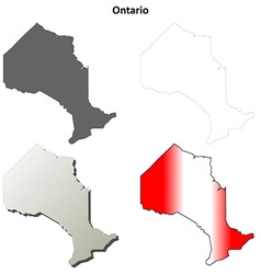 Ontario blank outline map set vector image vector image