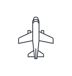 airplane boeing plane travel thin line icon vector image