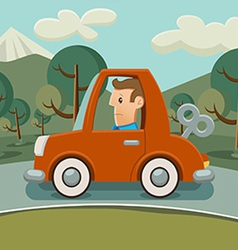 Car without fuel vector image vector image