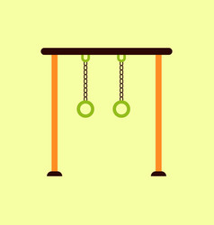 In flat style park playground vector