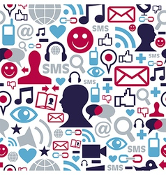 Social media network icons pattern vector image