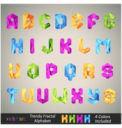 Trendy colorful alphabet vector