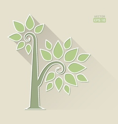 Abstract Tree on brown background vector image vector image