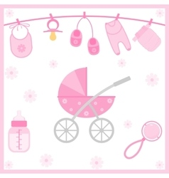 Baby Shower objects vector image