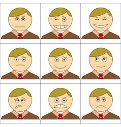 cartoon smilies vector image