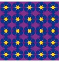 Cartoon stars on dark blue background vector image