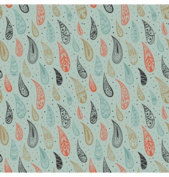 Cute seamless texture with colored rains on green vector image vector image