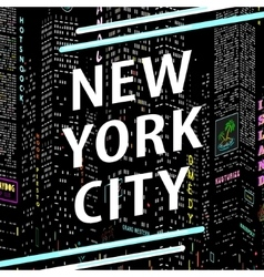 Inscription New York City vector image vector image