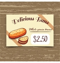 Price Tag Design Whole Grain Bread vector image vector image