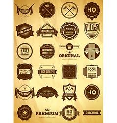 Vintage labels Big collection 1 vector image