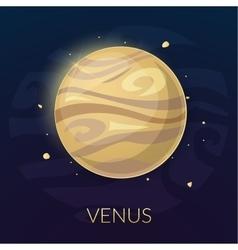 The planet Venus vector image vector image