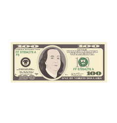 100 dollars banknote bill one hundred dollars vector