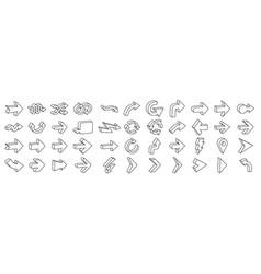 3d arrows pictograms set arrows symbol vector image