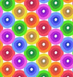 abstract flower background in shades rainbow vector image