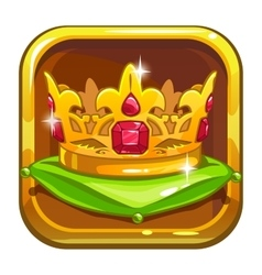 App store icon with golden crown vector