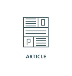 article line icon article outline sign vector image