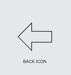Back icon vector