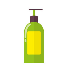 Big plastic bottle of liquid soap with dispenser vector