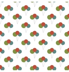Birthday balloon pattern seamless vector image