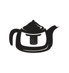 Black kettle icon vector