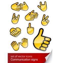 body language vector image