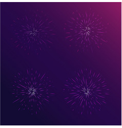 Brightly colorful fireworks vector