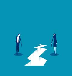 Business individual walk direction walk forward vector