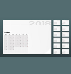 calendar of 2018 year planner design template vector image