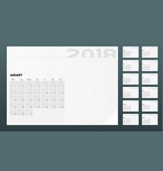 calendar of 2018 year planner design template vector image
