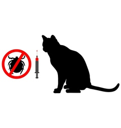 Cat tick vaccination vector