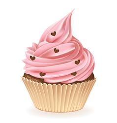 Chocolate Hearts Cupcake vector