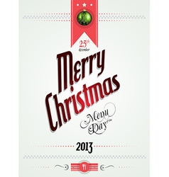 christmas menu day template vector image