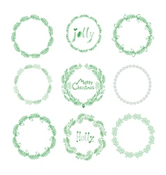 Christmas wreaths50 vector