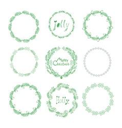 Christmas wreaths50 vector image