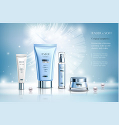 cosmetics ad composition vector image