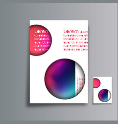 cover minimal design abstract gradient background vector image