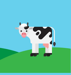 Cow color cartoon vector