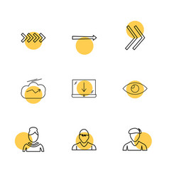 Download avtar profile arrows directions vector