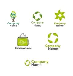 Eco Logos set vector image