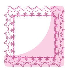 Elegant victorian with square shape frame vector