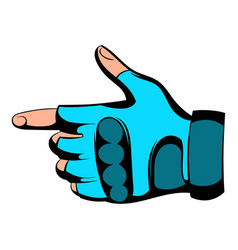 gloves icon cartoon vector image