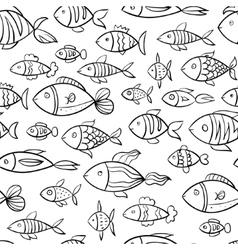 Hand drawn fish pattern vector